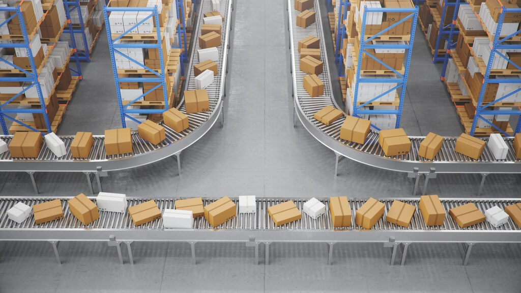 parcel delivery fulfilment operations at a distribution centre